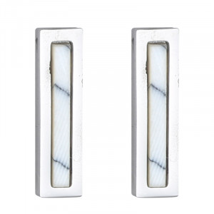 Earrings Minimalistic Marble Bar