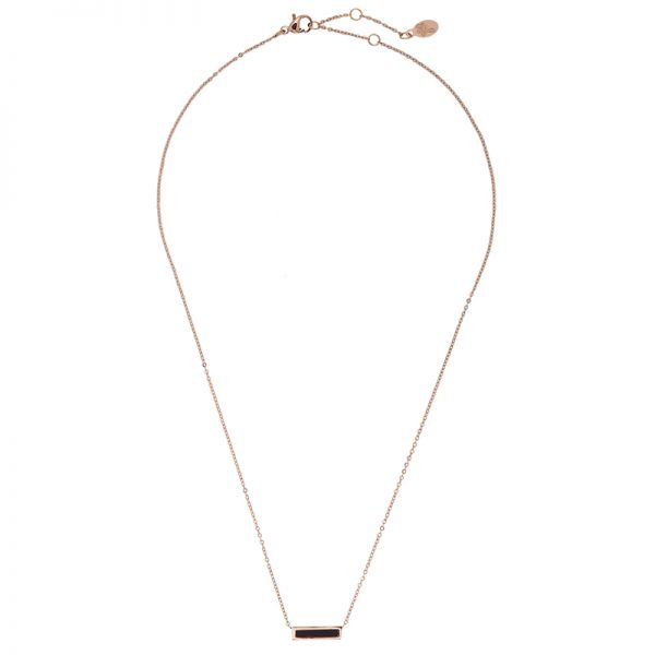 Necklace Minimalistic Marble Bar