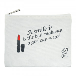 Make-up Tasche 'A smile is the best make-up a girl can wear!'