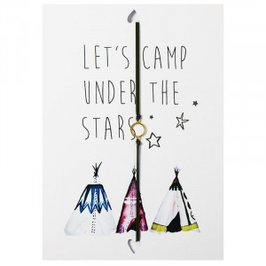 Postkarte Let's camp under the stars