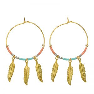 Boucles d'oreilles colourful feathers