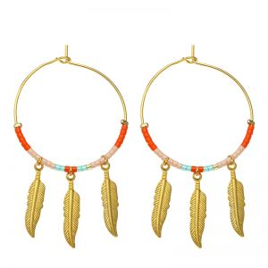 Earrings Colourful Feathers