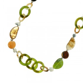 Necklace Colored Stones