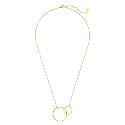 Necklace Double Rings