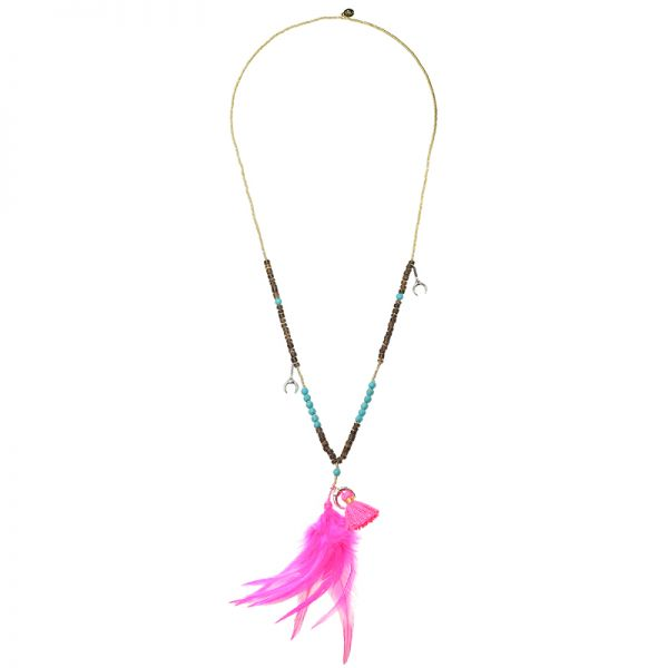 Collier Fly With Feathers