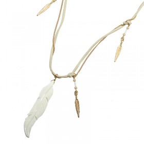 Necklace Row with Feathers