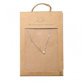 Necklace Tiny Silver Cube