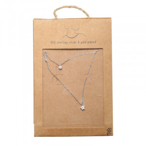 Collier Tiny Silver Round & Star