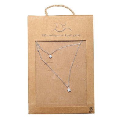 Ketting Tiny Silver Round & Star