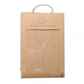 Necklace Tiny Silver Triangle