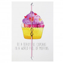 Postcard Be a beautiful cupcake in a world full of muffins