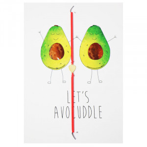 Postcard Let's Avocuddle