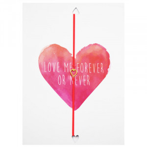 Postcard Love Me Forever Or Never