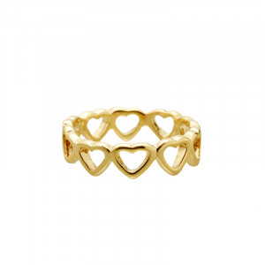 Ring Row of Hearts #17