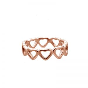 Ring Row of Hearts #18