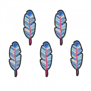 Jeans Patch Colourful Feather