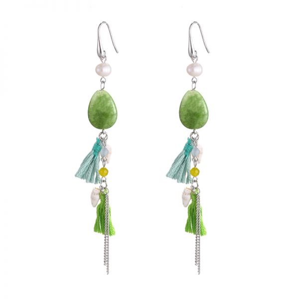 Earrings tassel shell