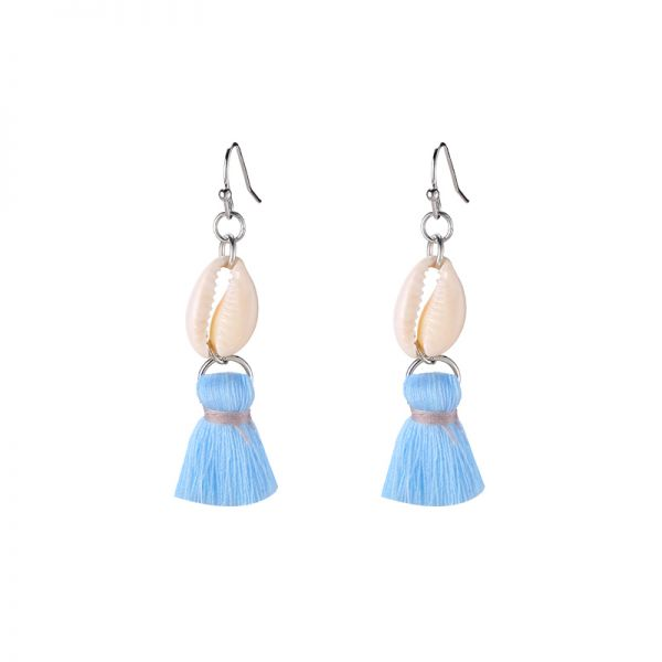 Earrings Shell & Tassel
