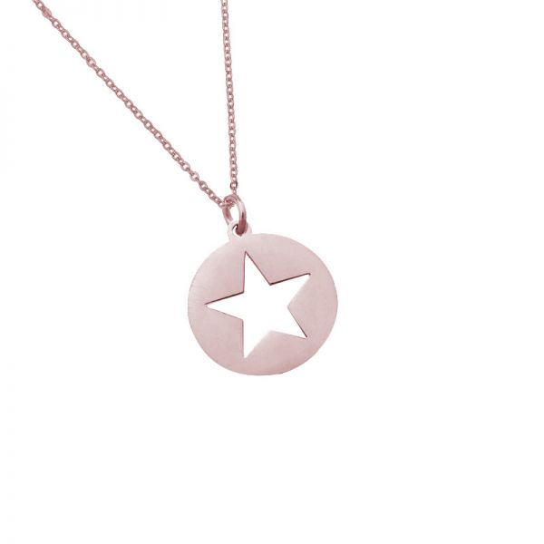 Necklace long see through star