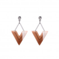 Earrings Abstract Triangle