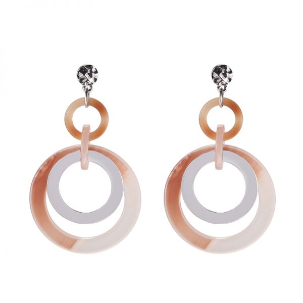Earrings Circle & Circle