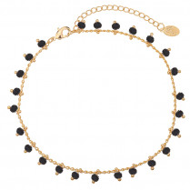 Ankle Strap Tiny Beads  & Black