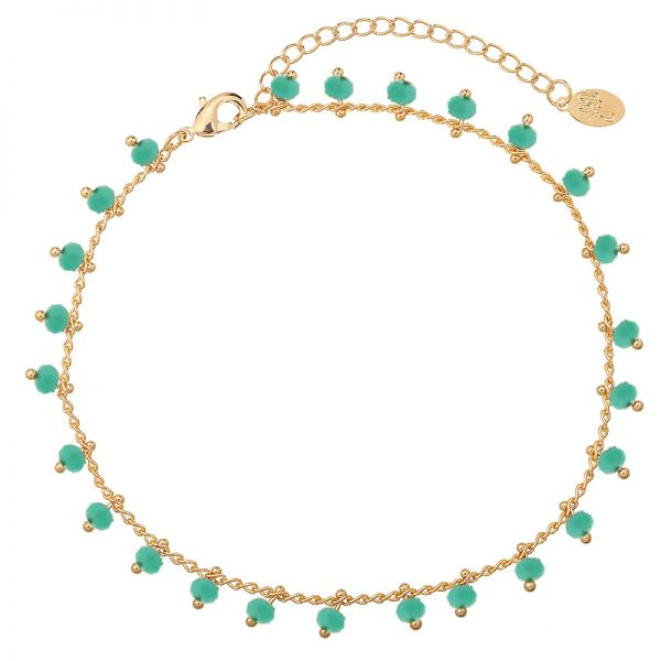 Cheville Strap Tiny Beads & Green
