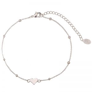 Ankle Strap Tiny Beads & Heart