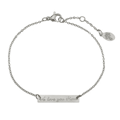 Bracelet We love you mom tag