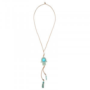 Kette Turquoise Hand