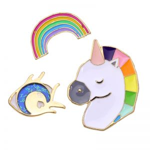 Pins Rainbow & Unicorn