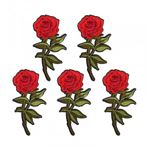Jeans Patch Red Roses