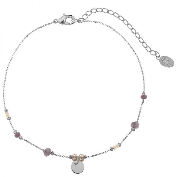 Ankle Strap Tiny Beads & Circle