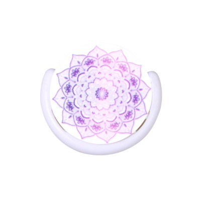 Smartphone Finger Grip Purple Mandala