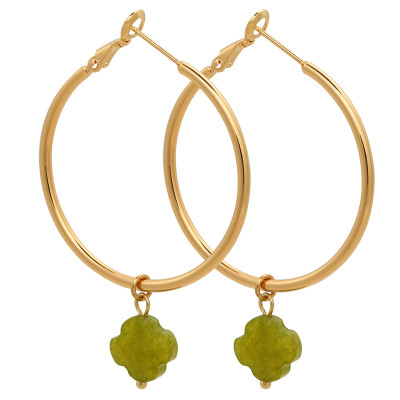 Earrings Hoops & Clover