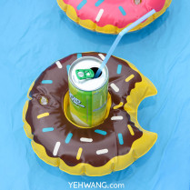 Inflatable Cup Holder Happy Donut