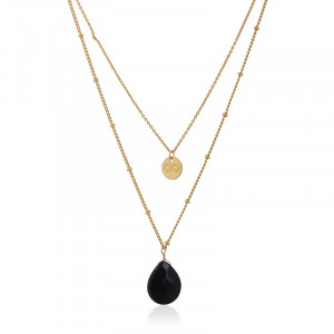 Necklace Miss -black-