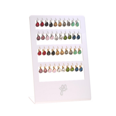 Display Earrings Color Stone