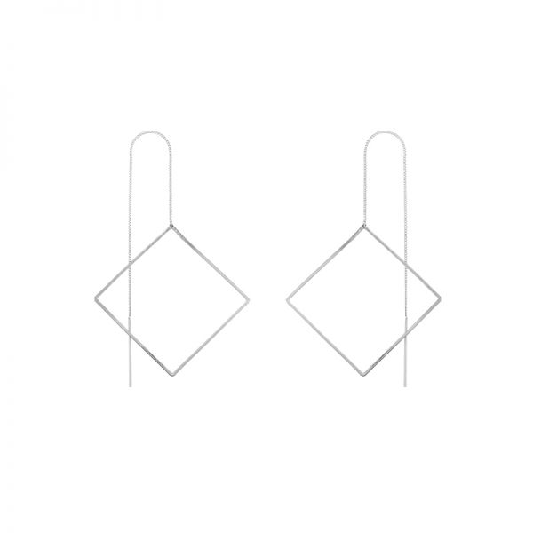 Wire Bar Boucles d'oreilles Big Square