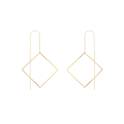 Wire Bar Earrings Big Square