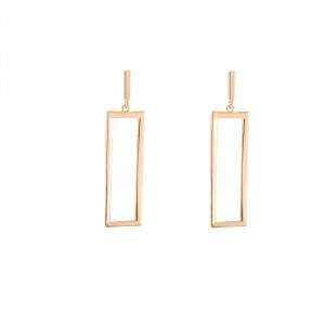 Earrings Statement Square