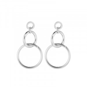 Earrings Circle Over Circle