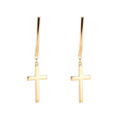 Oorbellen Dangle Cross