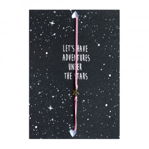 Postcard Let's have adventures under the stars