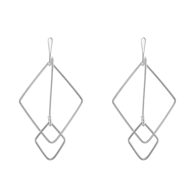 Earrings Geo Check