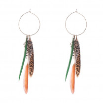 Earrings Fall Feathers