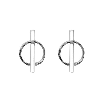 Earrings Circle and Line