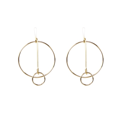 Earrings Circles Connected