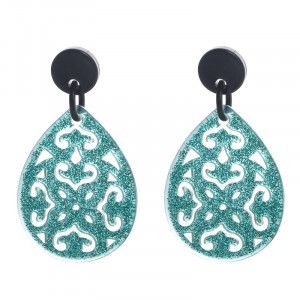 Earrings Statement Glitter