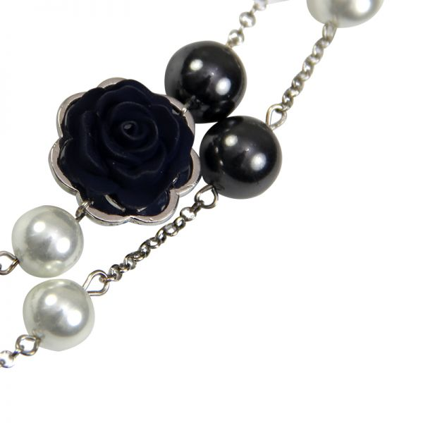 Collier perles and roses